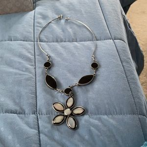 Lovely Alpaca Mother Pearl Onyx Necklace